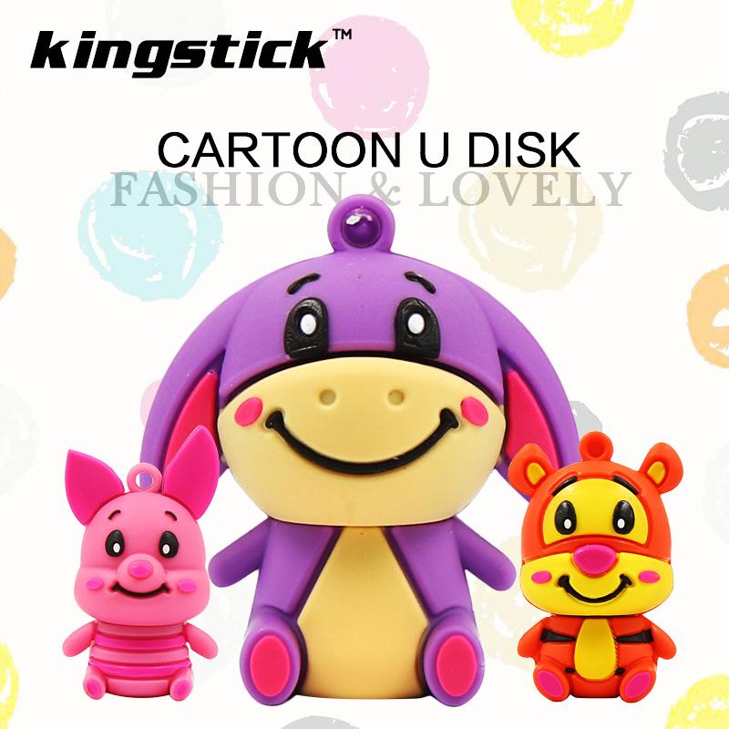 Cute animal Little tiger/Pink pig/donkey usb flash drive 64g pen drive 32g pendrive 16g 8g 4g memory stick U disk Usb2.0(China (Mainland))