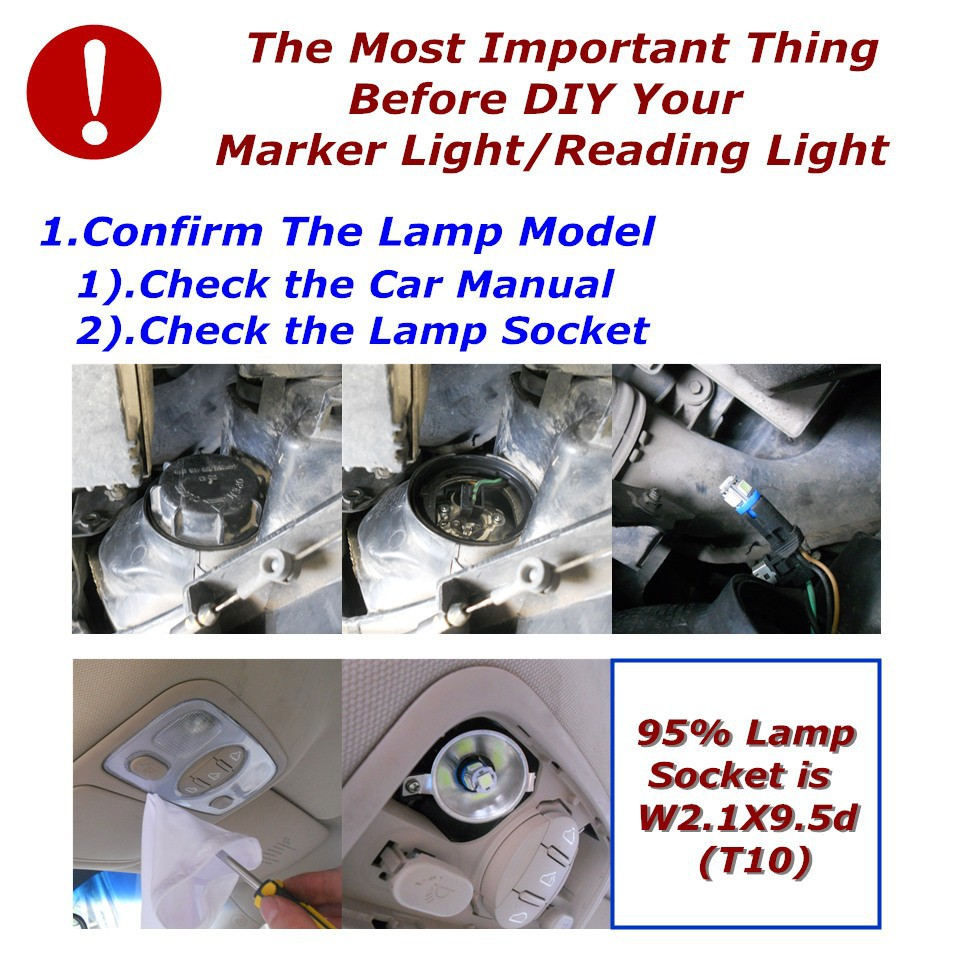 Stock Shipping New 24V CE LED Car Spare Lamp T10(5*5050 SMD)W5W W2.1X9.5d for Signal Top Reading Width Light
