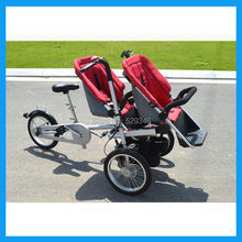ZZMERCK 3 Wheels two baby seats stroller for twins(China (Mainland))