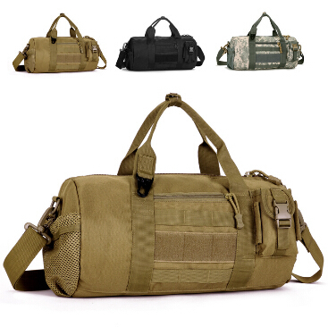 Molle large capacity men travel bags outdoor military tactical canvas luggage & travel shoulder bag heavy duty carrier(China (Mainland))