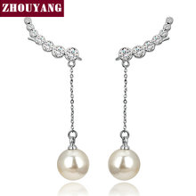 Top Quality 2015 New 7pcs CZ Diamonds Drop Imitation Pearl 18K Gold Plated Ear Hook Stud Earrings JewelryZYE459 ZYE460 ZYE478(China (Mainland))