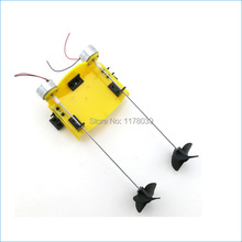 Remote control boat kit,DIY remote control boat,Plastic and metal Technology model material,Free Shipping J15726(China (Mainland))