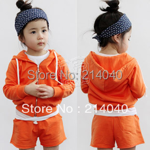 2013 spring brief girls clothing baby casual sports set tz-0455 (CC001)