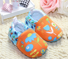 Baby girl blue and orange Shoes Spring flowers and birds Sneakers Sandals Summer girls Drop Shipping New (China (Mainland))