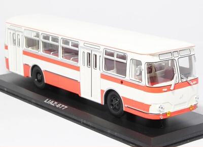 1:43 Soviet Union 677, orange coating, Bus Model Free shipping(China (Mainland))