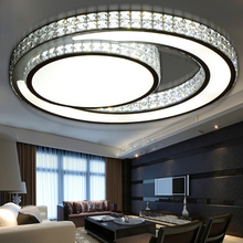 crystal led ceiling lights lamparas de techo luminaire deckenleuchten acrylic bedroom living plafond lamp fixtures lighting(China (Mainland))