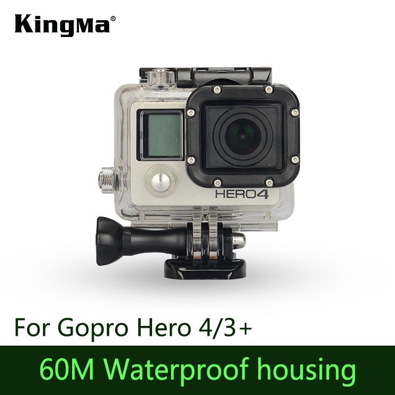 KingMa Gopro Hero 4 Waterproof Housing Case 60M Underwater Diving Waterproof Shell Cover Housing for Gopro HD Hero 3 Hero 3+(China (Mainland))