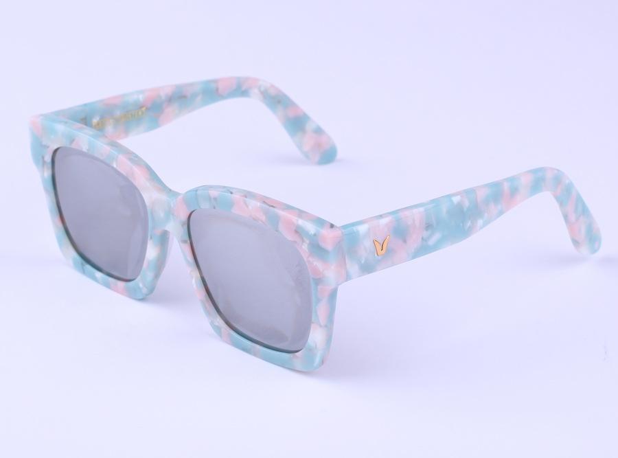 New Square sunglasses Semi-Rimless V Brand Designer women's circle sun glasses vintage mirror points women 4 colors gafas de sol(China (Mainland))