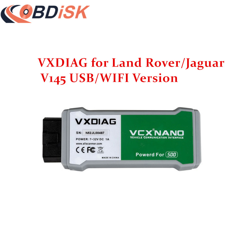 2016 Newest VXDIAG VCX NANO Scanner for Land Rover and Jaguar 2 in 1 with Software SSD V145 Updatable WIFI Diagnostic Tool(China (Mainland))