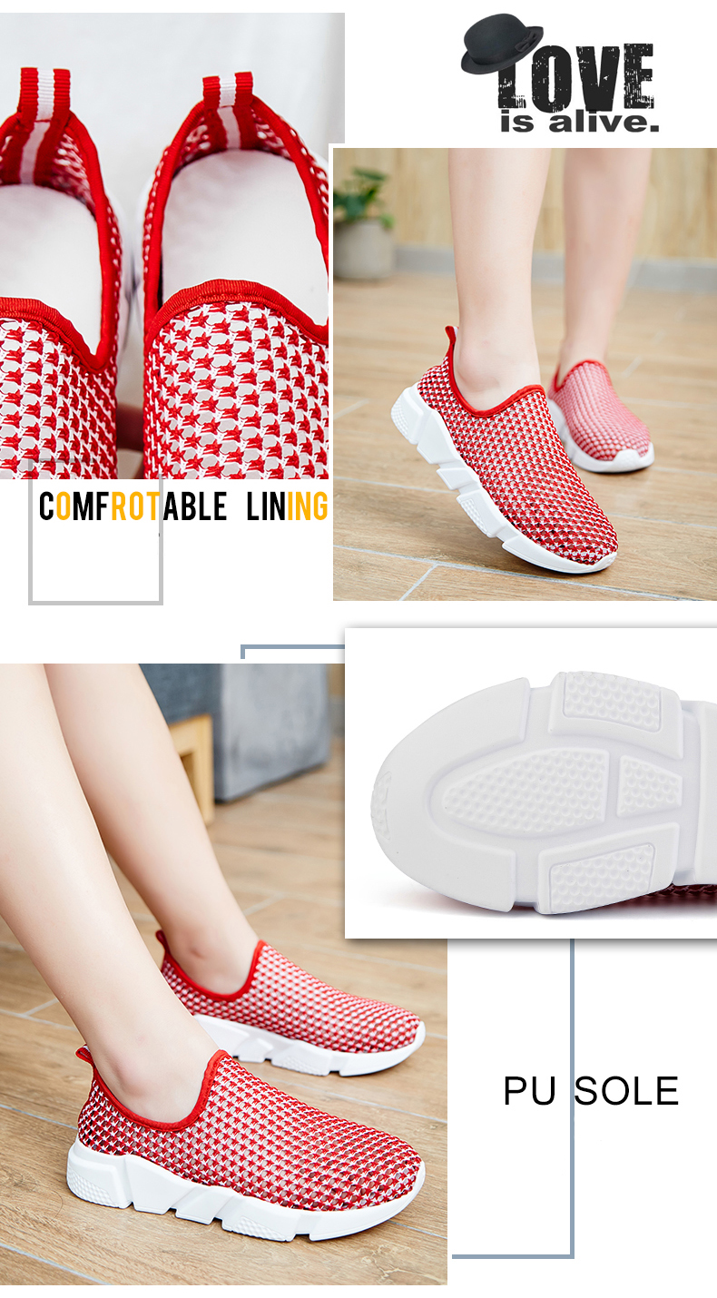 Socone Women Walking Shoes Breathable Air Mesh Shoes Lightweight LOVER Platform Woman Healthy Fitness Swing Sport Sneakers (3)