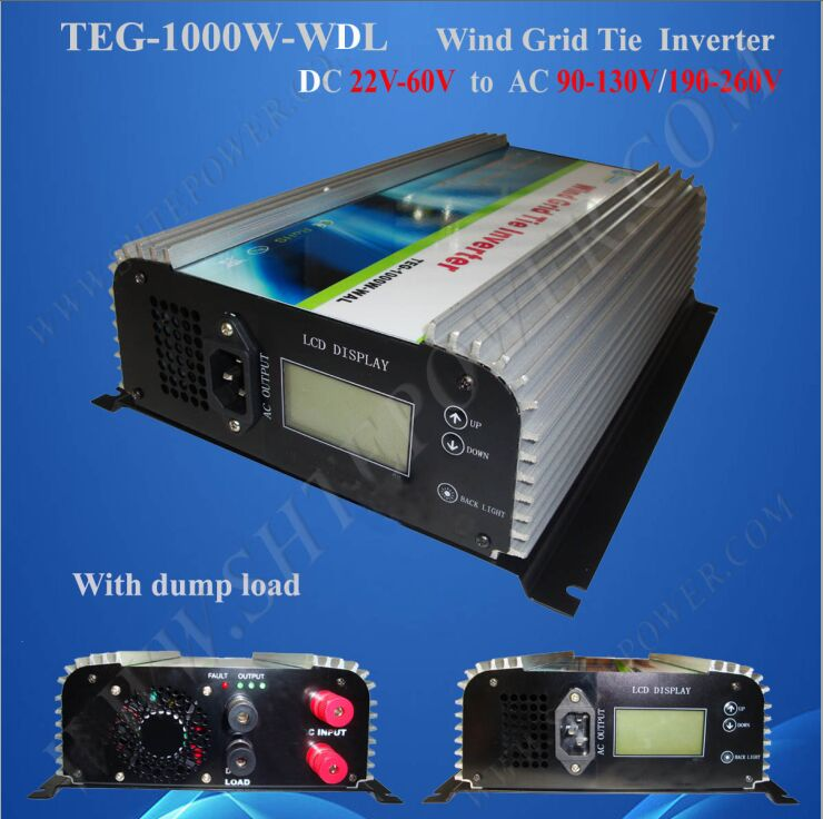 1000W power inverter wind, grid connected wind turbine generator invertor 1KW dc 48V(China (Mainland))