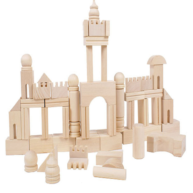 New Wooden Bucket Building Blocks Assemble Castle Kids Toys Domino Educational Game Gift HT3708(China (Mainland))