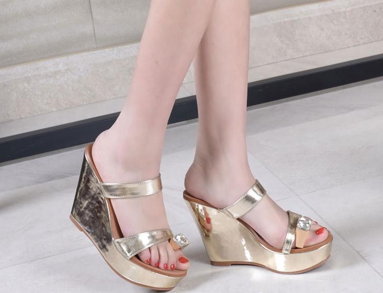 Glitter Wedge Sandal Glitter Platform Wedges