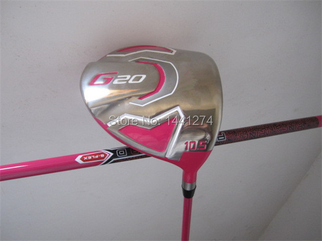 """Golf Clubs Driver Pink G20 Driver G20 Golf Driver 9.5""""/10.5"""" Degree Regular/Stiff Flex Graphite Shaft Come With Head Cover(China (Mainland))"""