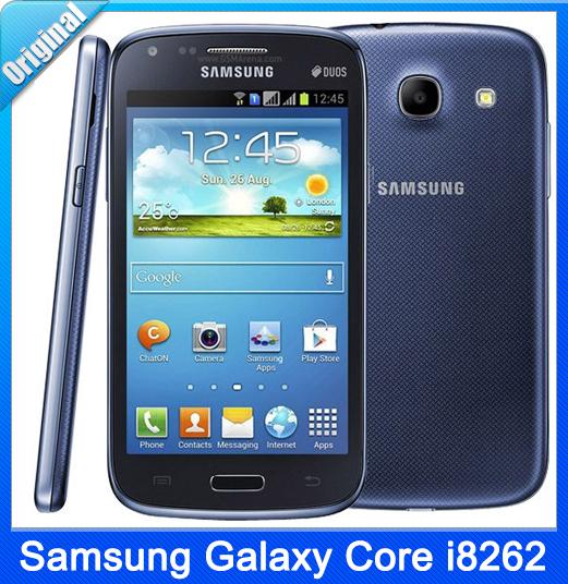 "Original Samsung Galaxy Core i8262 Dual SIM GPS Wi-Fi 5.0MP 4.3""TouchScreen 3G Unlocked Refurbished Phone(China (Mainland))"