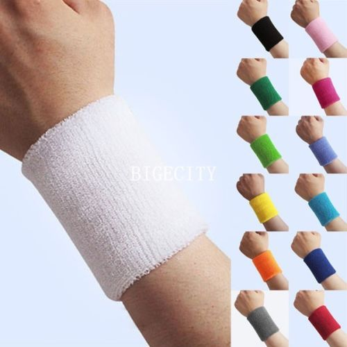 2x New 13 Colors Fashion Summer Sports Wristband Sweatband Wrist Wristband Yoga Wristbands(China (Mainland))