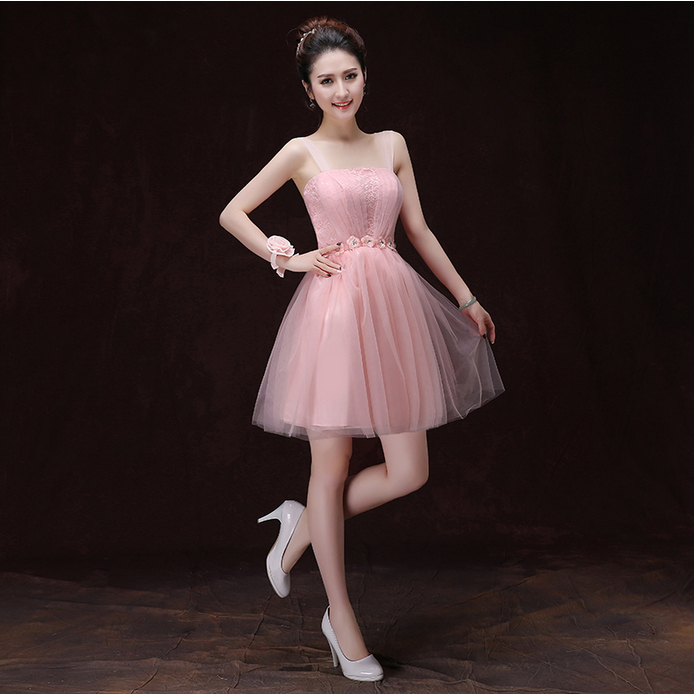 girl vestidos formales short newest party cocktail dress pink girls' dresses new fashion 2016 ball gown S3385 - I And You Story store