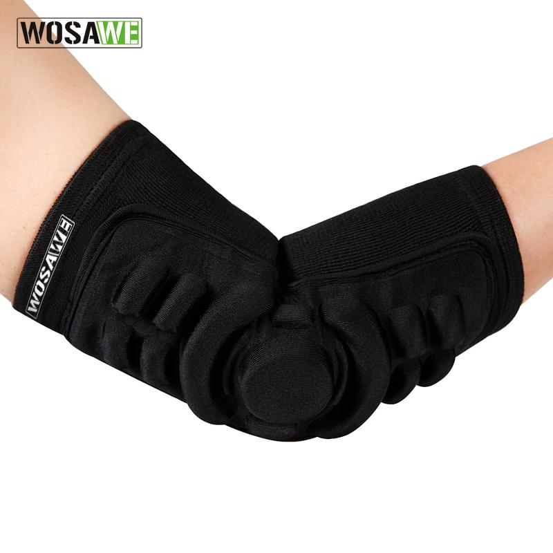 WOSAWE 1Pair Elastic Elbow Pads Breathable Football Basketball Snowboarding Skating Cycling Sports Arm Sleeve Elbowpad Protector(China (Mainland))