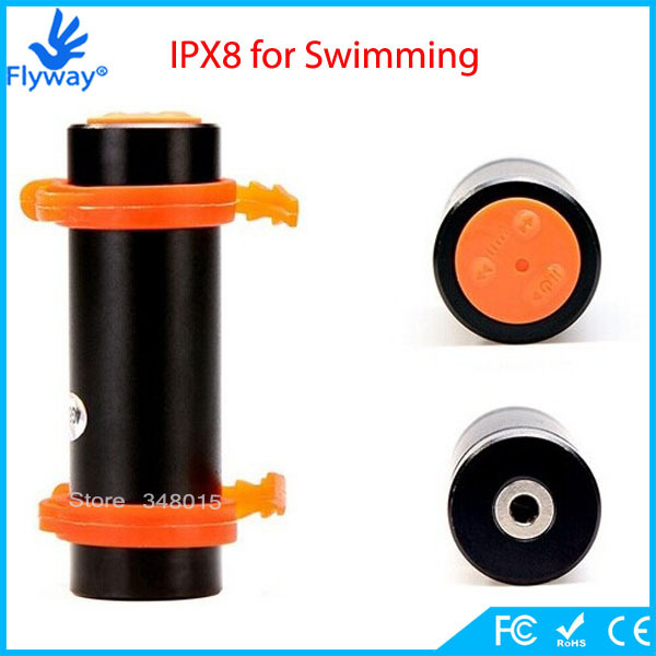 New Style Swimming Diving Water Resistance IPX8 Auga Waterproof MP3 Player 8GB Mini Sports MP3 with FM Radio Earphone(China (Mainland))