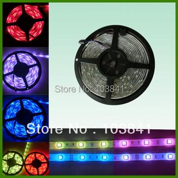 Retail led flexible strip light RGB/ Blue/Green/ Yellow/ Red/ White Waterproof IP44 5050 SMD RGB Led Ribbon lamp 300 LEDs/Roll