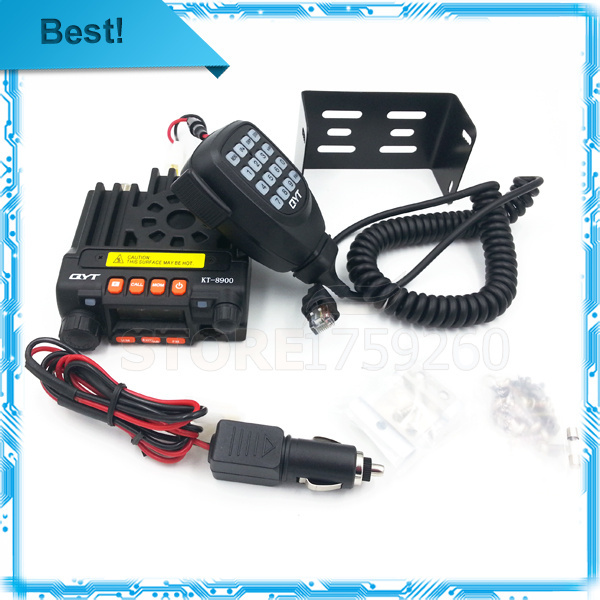 Best Mini Transceiver QYT KT8900 Dual band 136-174/400-480MHz Mobile Radio Transceiver higt quanlity+KT-8900 programming cable(China (Mainland))