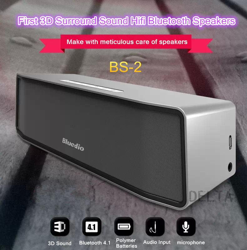 new arrives bs-2 mini 3D surround subwoofer speakers, bluetooth 4.1 altavoces caixa de som bluetooth portable speaker(China (Mainland))