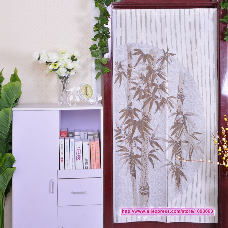 Classical Chinese Style High Grade Bamboo Knitting Curtain Romantic Room Taiwan Feng Shui Decoration(China (Mainland))