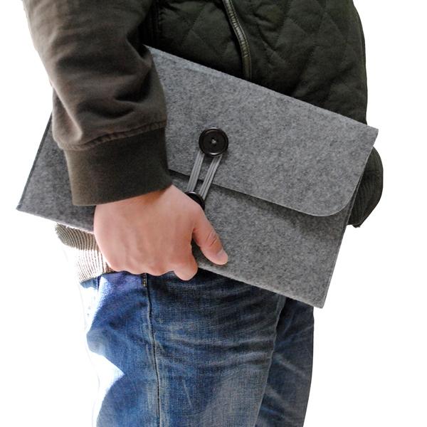 1Pc New wool felt Laptop Bag Sleeve Case Notebook bag For Apple MacBook 11.6 13.3 15inch Air Pro Retina Laptop pouch<br><br>Aliexpress