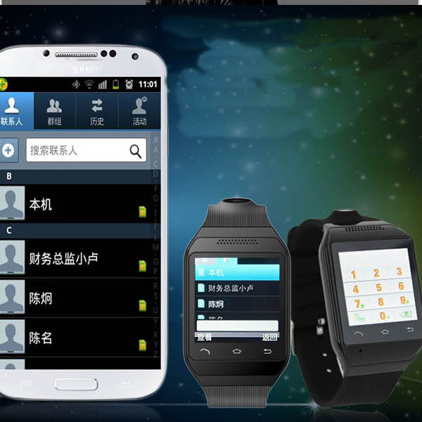 New Arrival Bluetooth sync watch and Smart Phone watch,Music,weather,twitter,email,facebook mobile phone watch gift 4 colors(China (Mainland))