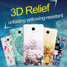 Painted Relief 3D Ultrathin Multi-Patterns Cartoon Hard Plastic Protective Phone Case Cover Skin For Xiaomi Mi4 Mi 4 Back Cover(China (Mainland))