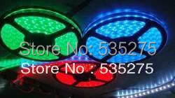 Free shipment Factory wholesale 5050 RGB led flexible strip light IP 65 waterproof with 3year gurante(China (Mainland))