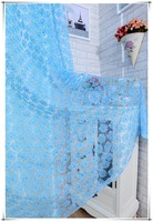Fashion window tulle  blue rose sheer curtain panel ready made organza curtain for wedding room