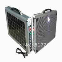 Free Shipping by DHL/UPS! Hottest 15W Ultra Thin Portable Solar System for Home with Direct LED Lighting and AC Charger Function(China (Mainland))