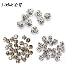 Buy Wholesale Silver Plated Charm Loose Bead round Shape Spacer Bead DIY Fit Bracelets Necklace Jewelry Making for $1.36 in AliExpress store