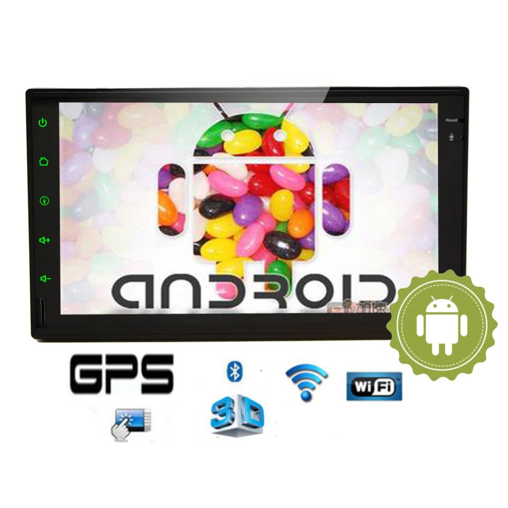 Android 4.2 GPS Navigation Double 2 DIN Universal Car Radio Player Audio 7 inch Touch Screen Car Stereo Bluetooth Headunit Video(China (Mainland))