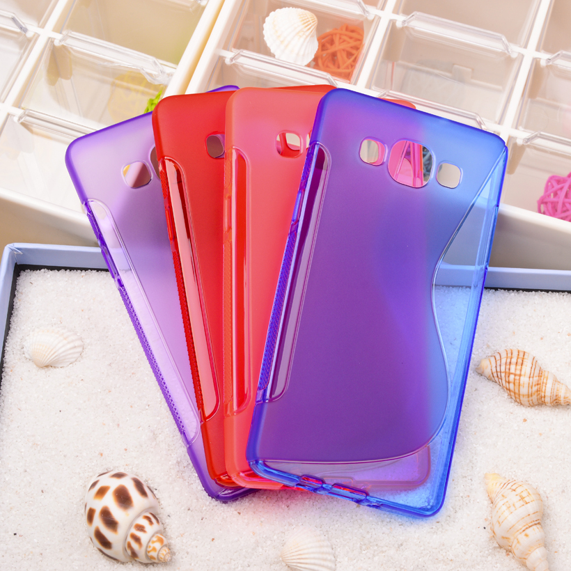 Luxury S Line Anti-skid Soft Silicone TPU GEL Skin Matte Cover Case For Samsung Galaxy A5 2014 A500 5.0 inch Cell Phone Shell(China (Mainland))