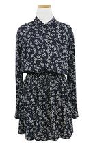 Урожай мори девушка цветочный принт с длинным рукавом платье 2016 осень с отложным воротником женский хлопка шнурок платье