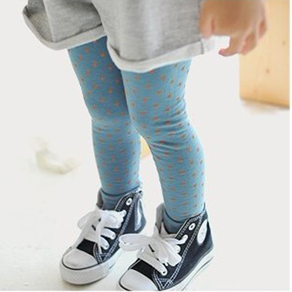 Kids Girl Polka Dot Tights Cotton Pant 2-8Y Toddler Baby Pants Classic LKM118 Kids Shoes(China (Mainland))