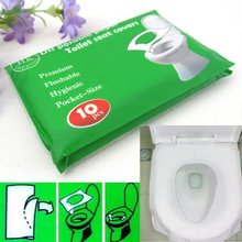 4 Packs=40Pcs/lot Disposable Paper Toilet Seat Covers Camping Festival Travel Loo(China (Mainland))