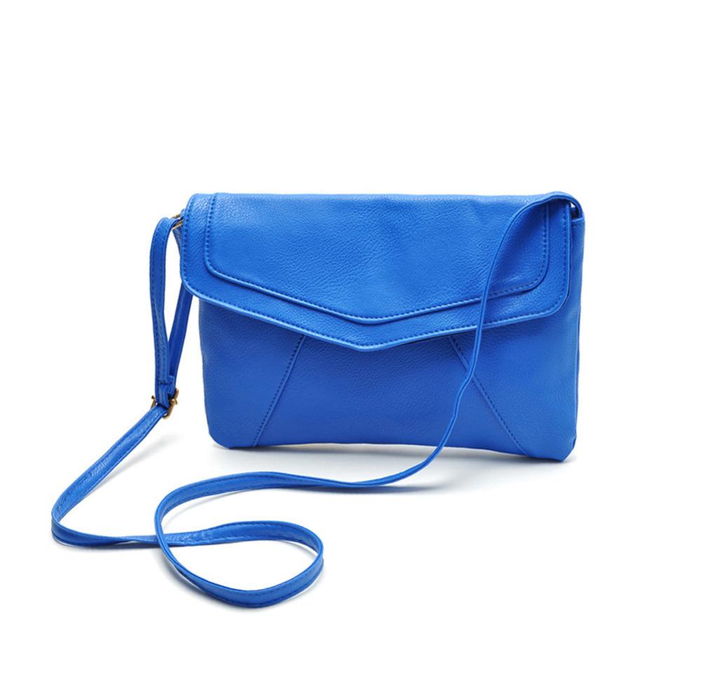 Fashion Women Messenger Bag PU Leather Envelope Shoulder Crossbody Bag Vintage Small Clutch Bag(China (Mainland))