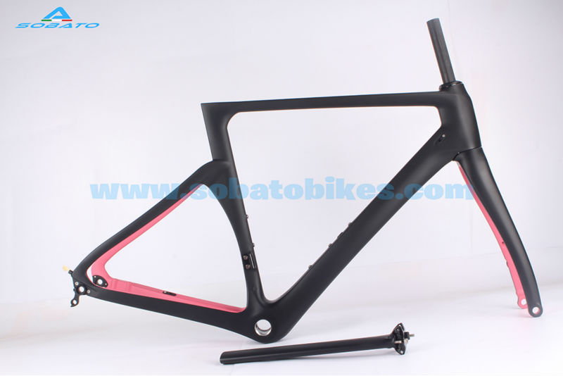 2016 carbon frame time trail road bicycle frame,red green color TT carbon frame 49/52/54/56/58 mm fork 700C(China (Mainland))