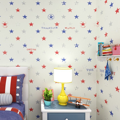 Buy classic star boys bedroom wallpaper for Kids room wallpaper