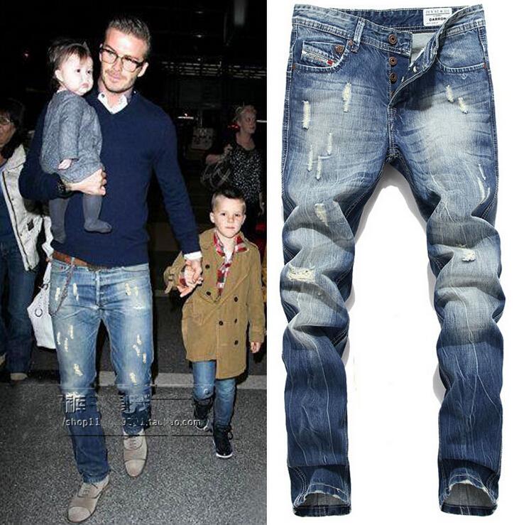 2016 Brand Mens Straight Ripped Jeans For Men High Quality Denim Bike Jeans Men Fashion Designer Pant