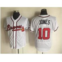 hot Mens 6 Bobby Cox 10 Chipper Jones 24 Deion Sanders 44 Hank Aaron Jerseys color white gray red blue green top quality(China (Mainland))