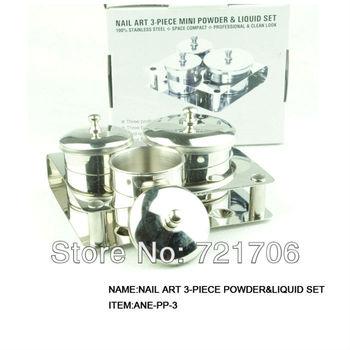 3 piece/set powder liquid set Stainless steel nail art tools free shipping