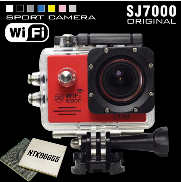 2015 New model Action Camera SJ7000 Wifi With SD card 2.0 LTPS LED Sports extreme mini cam recorder marine diving 1080P HD DV(China (Mainland))