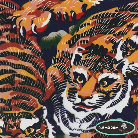 High quality tiger stripes water transfer printing hydrographics film,50cm*20m,water transfer film HYA-673(China (Mainland))