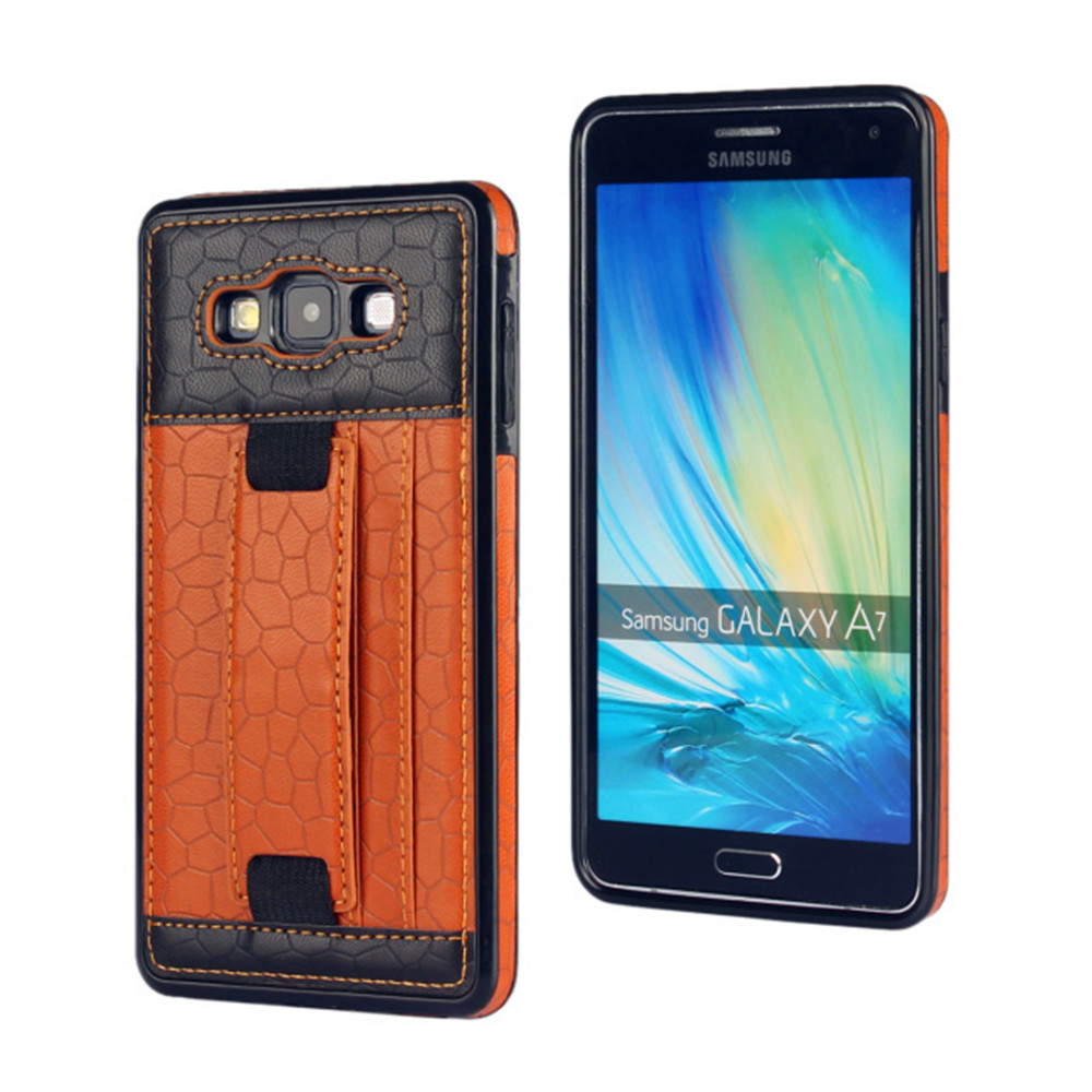 Football lines Card Slot Retro Stand Leather Case for samsung galaxy A7 Ultra Slim Back Cover cell phone Accessories