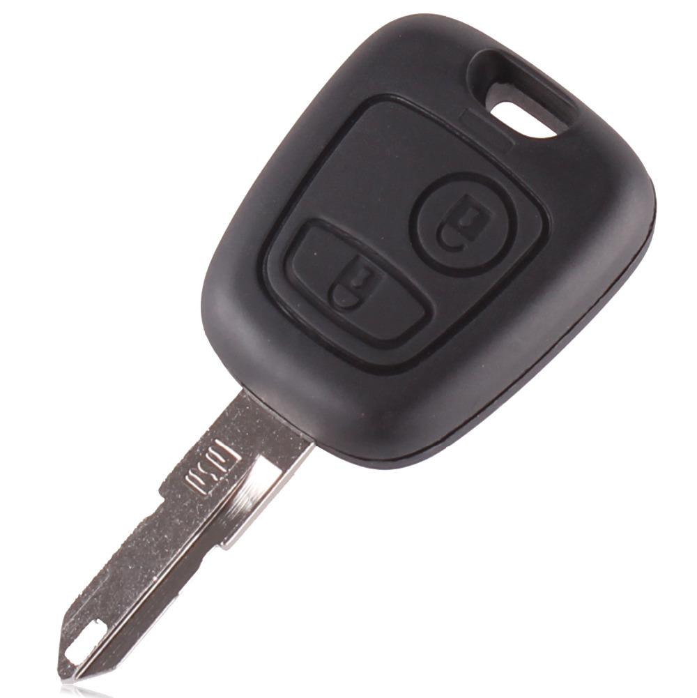 1pcs free shipping car key citroen C5 2 button remote key shell citroen c2 key Case Keyless Fob Uncut Blade remote key shell(China (Mainland))