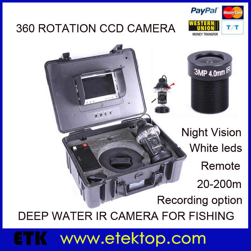"Under Water Deep Water Fishing Finder Color Video Camera 3MP HD Lens 7"" TFT Monitor 30m Cable W/English User Manual(China (Mainland))"